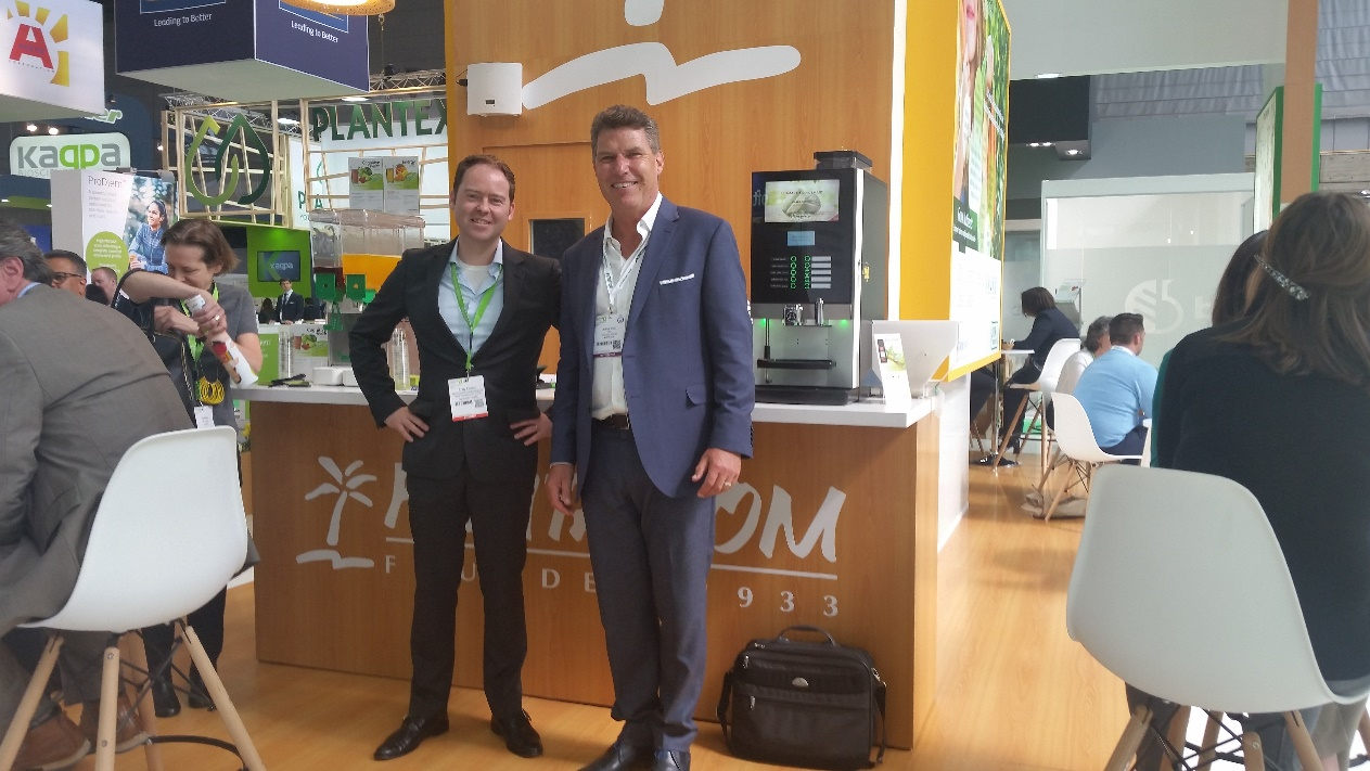 Vitafoods Europe 2017 - TransChem CEO, Andrew Klapka with Rudy from Frutarom