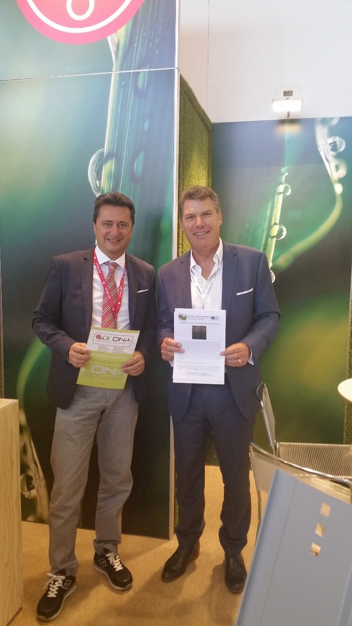 Vitafoods Europe 2017 - TransChem CEO, Andrew Klapka with Francesco from EPO