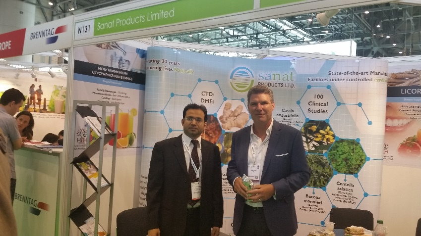Vitafoods Europe 2017 - TransChem CEO, Andrew Klapka with Amit from Sanat