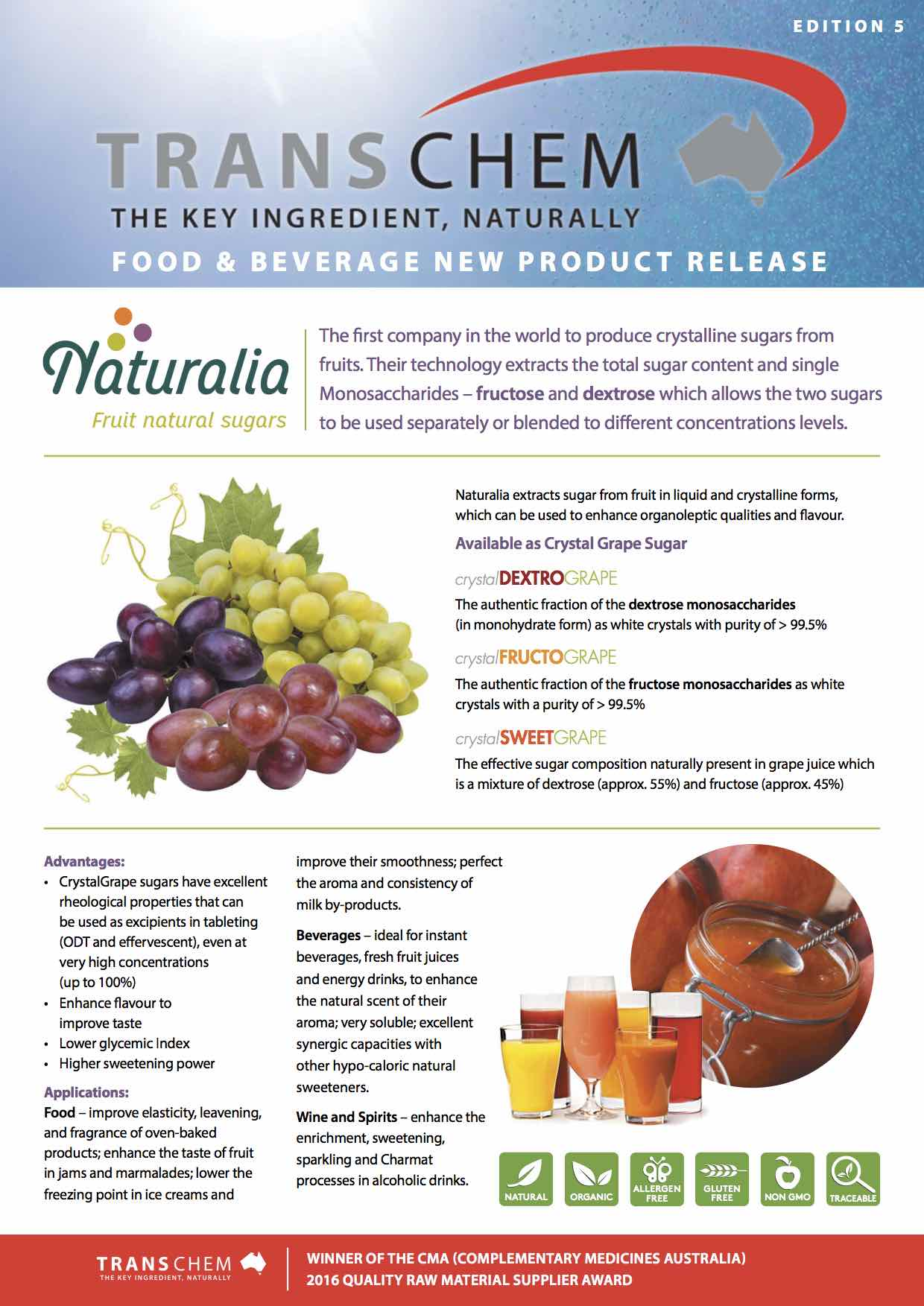 Food & Beverage Edition 5 - new product releases - August 2017